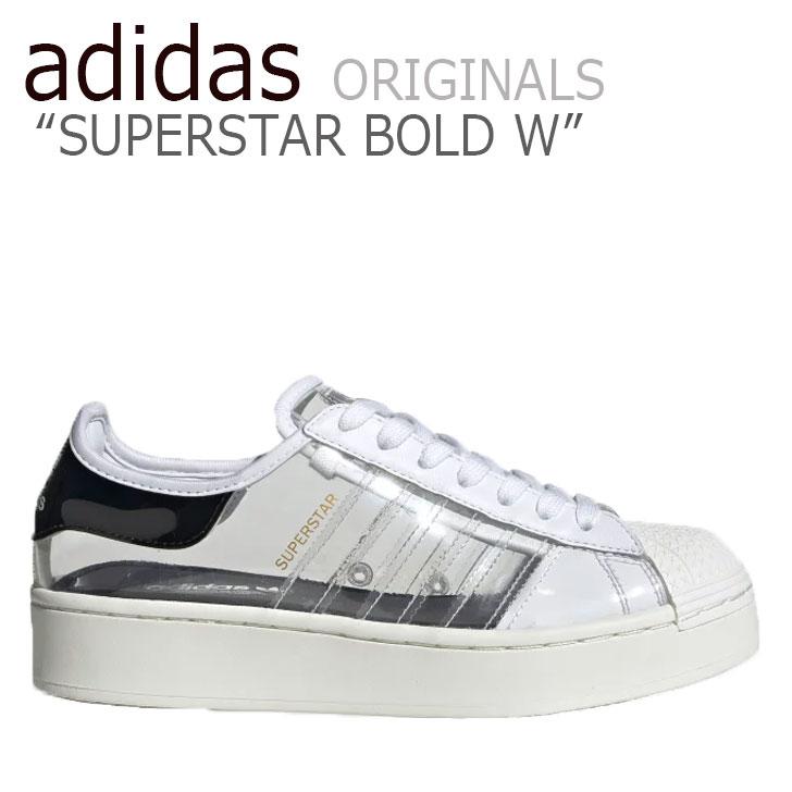 アディダス スーパースター スニーカー adidas レディース SUPERSTAR BOLD W スーパースター ボールド WHITE ホワイト SILVER シルバー FV3361 シューズ 【中古】未使用品