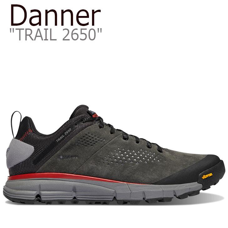 ダナー スニーカー DANNER メンズ TRAIL 2650 トレイル2650 DARK GRAY ダーク グレー BRICK RED ブリック レッド 61200 シューズ