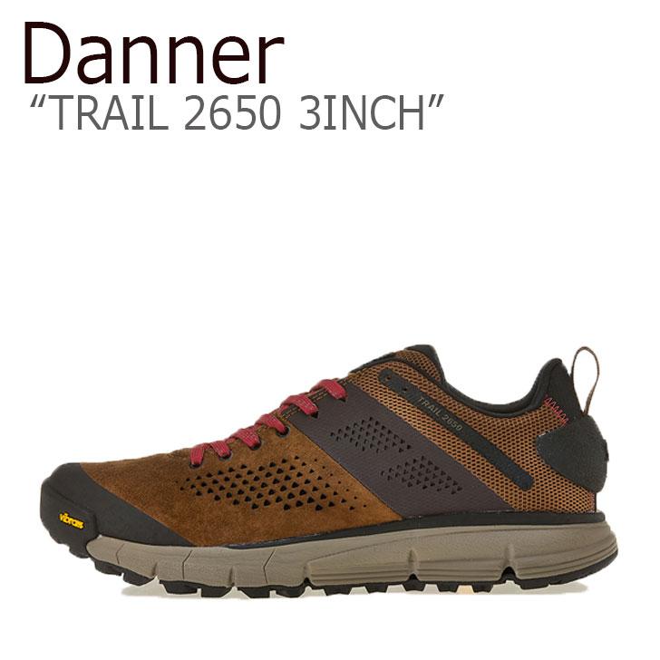 ダナー スニーカー DANNER メンズ TRAIL 2650 3INCH トレイル2650 3インチ BROWN ブラウン RED レッド 61272 シューズ