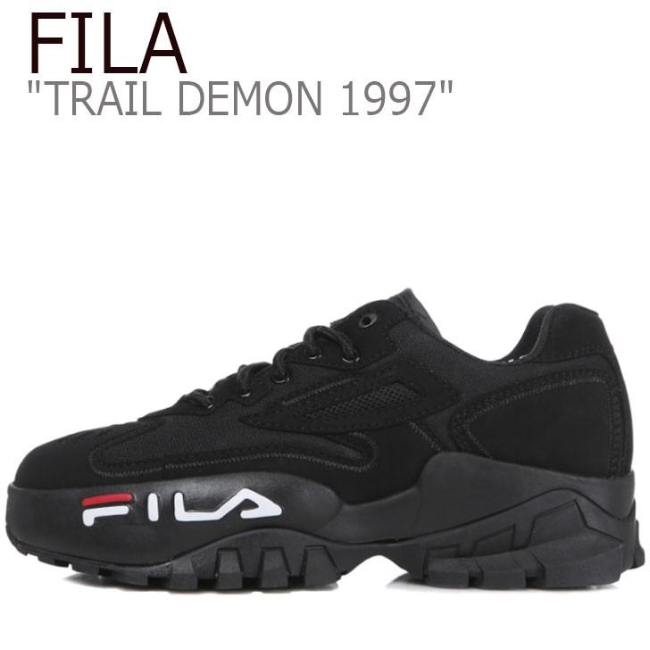 フィラ スニーカー FILA メンズ レディース TRAIL DEMON 1997 トレイル デーモン1997 BLACK ブラック 1JM00796-001 シューズ