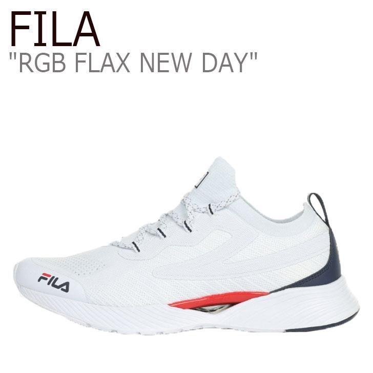 フィラ スニーカー FILA メンズ レディース RGB FLAX NEW DAY RGB フラックス ニューデイ WHITE ホワイト NAVY ネイビー 1RM01252-125 シューズ