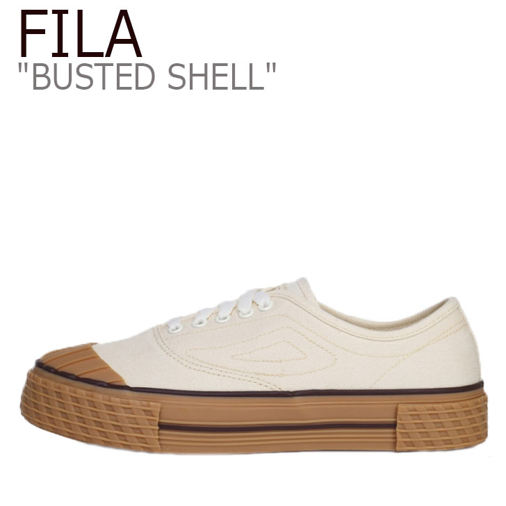 フィラ スニーカー FILA メンズ レディース BUSTED SHELL バステッド シェル WHITE ホワイト BROWN ブラウン 1XM00982-156 シューズ