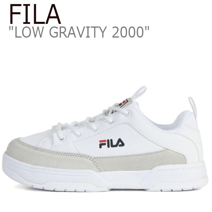 フィラ スニーカー FILA メンズ レディース LOW GRAVITY 2000 ロウ グラビティ 2000 WHITE ホワイト 1XM01007_100 シューズ