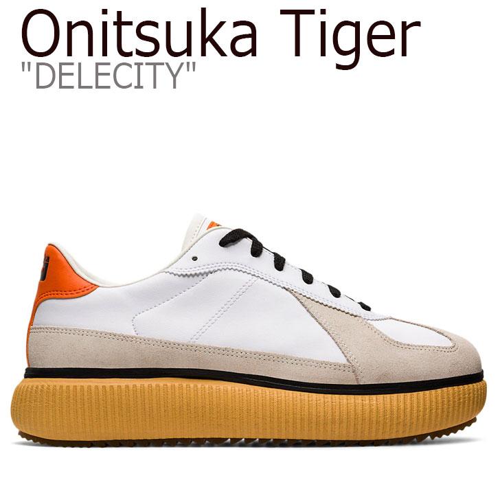 オニツカタイガー スニーカー Onitsuka Tiger メンズ レディース DELECITY デレシティ WHITE ホワイト HABANERO ハバネロ 1183A386-108 シューズ
