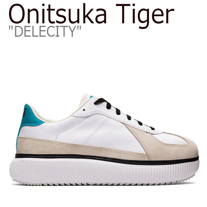 オニツカタイガー スニーカー Onitsuka Tiger メンズ レディース DELECITY デレシティ WHITE ホワイト LAGOON ラグーン 1183A386-109 シューズ