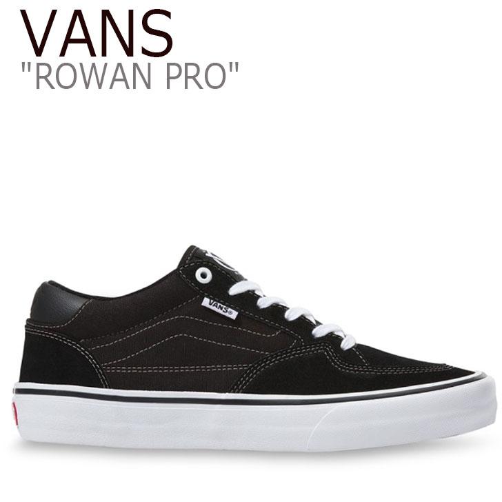 バンズ スニーカー VANS メンズ ROWAN PRO ローワンプロ BLACK ブラック WHITE ホワイト VN0A4TZCY28 シューズ