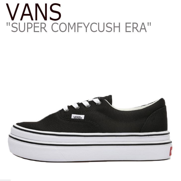 バンズ エラ スニーカー VANS レディース SUPER COMFYCUSH ERA スーパー コンフィークッシュ エラ BLACK ブラック WHITE ホワイト VN0A4U1D1WX シューズ