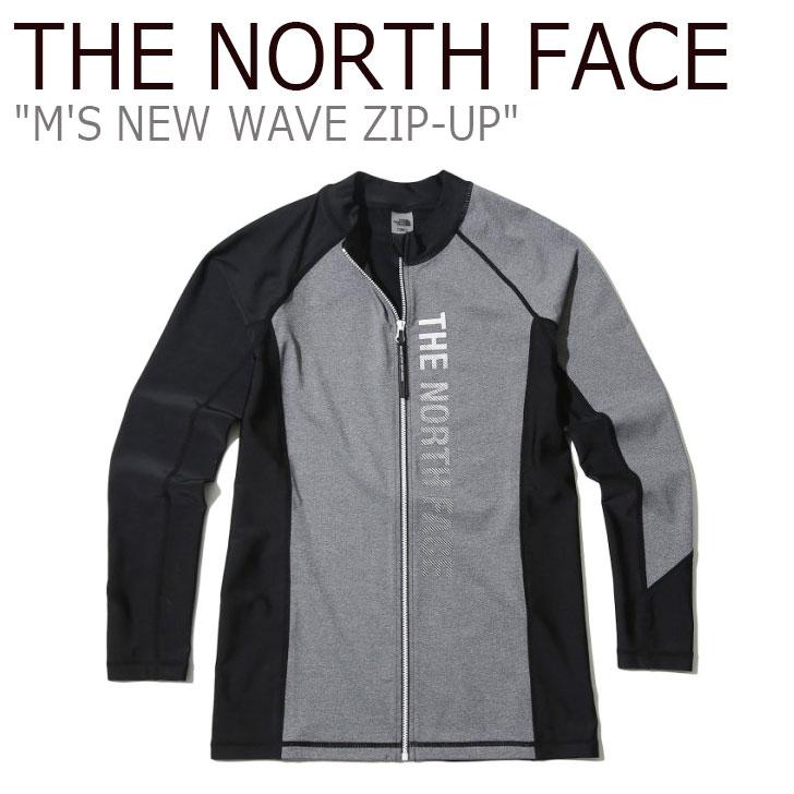 ノースフェイス 水着 THE NORTH FACE メンズ M'S NEW WAVE ZIP-UP ニュー ウエーブ ラッシュガード ジップアップ GREY グレー NJ5JK07K ウェア 【中古】未使用品