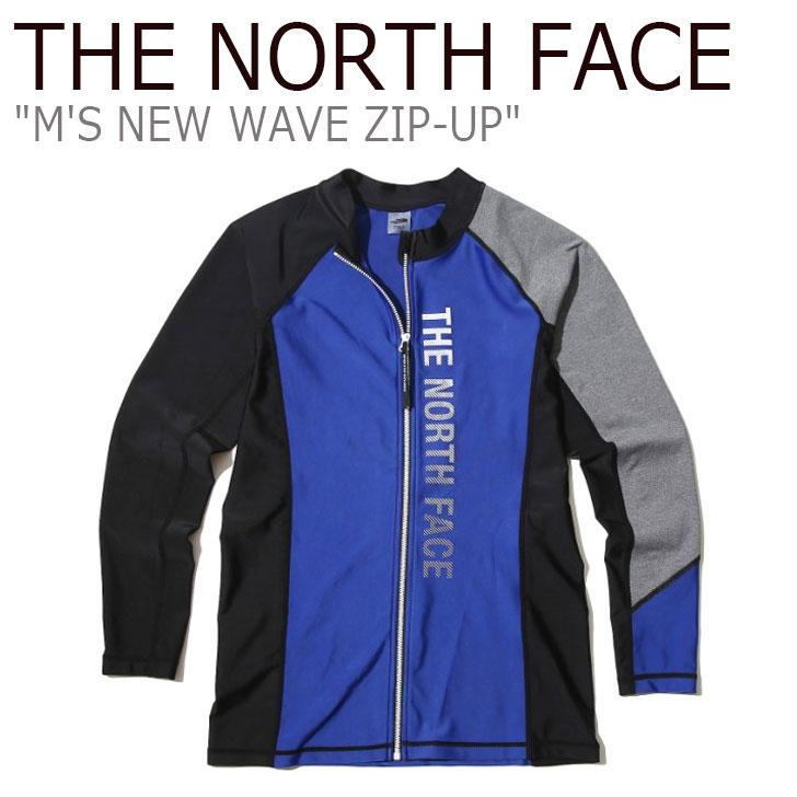 ノースフェイス 水着 THE NORTH FACE メンズ M'S NEW WAVE ZIP-UP ニュー ウエーブ ラッシュガード ジップアップ BLUE ブルー NJ5JK07L ウェア 【中古】未使用品