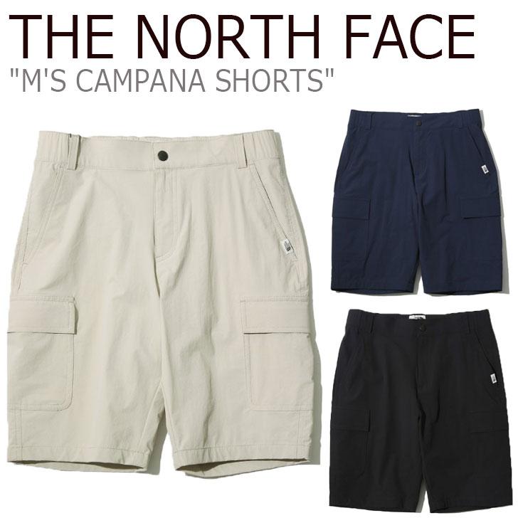 ノースフェイス ハーフパンツ THE NORTH FACE メンズ M'S CAMPANA SHORTS カンパーナ ショーツ BEIGE ベージュ BLACK ブラック NAVY ネイビー NS6NK03J/K/L ウェア 【中古】未使用品