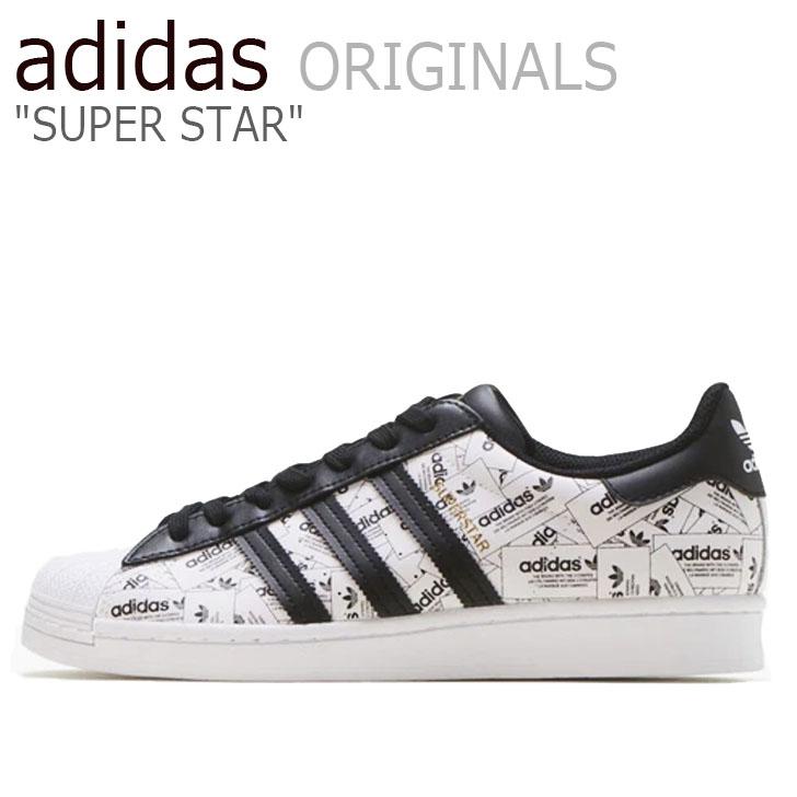 アディダス スーパースター スニーカー adidas メンズ レディース SUPERSTAR スーパースター WHITE ホワイト BLACK ブラック FV2819 シューズ【中古】未使用品