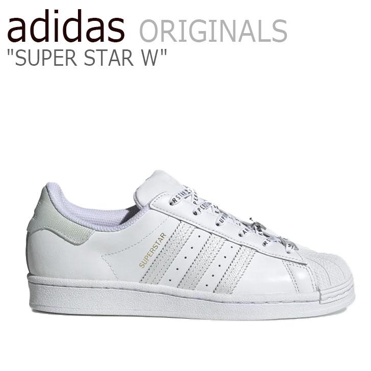 アディダス スーパースター スニーカー adidas メンズ レディース SUPERSTAR W スーパースターW WHITE ホワイト FV3392 シューズ【中古】未使用品