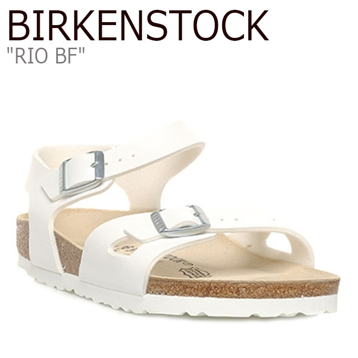 ビルケンシュトック サンダル BIRKENSTOCK レディース RIO BF リオ WHITE ホワイト 031733 シューズ 【中古】未使用品