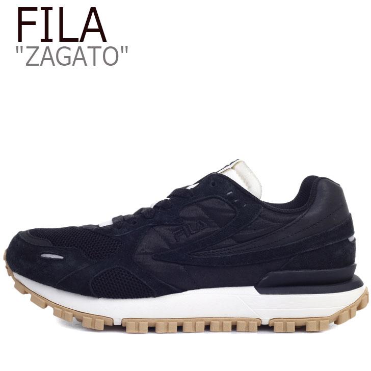 フィラ スニーカー FILA メンズ レディース ZAGATO ザガト BLACK ブラック 1GM00849-978 シューズ