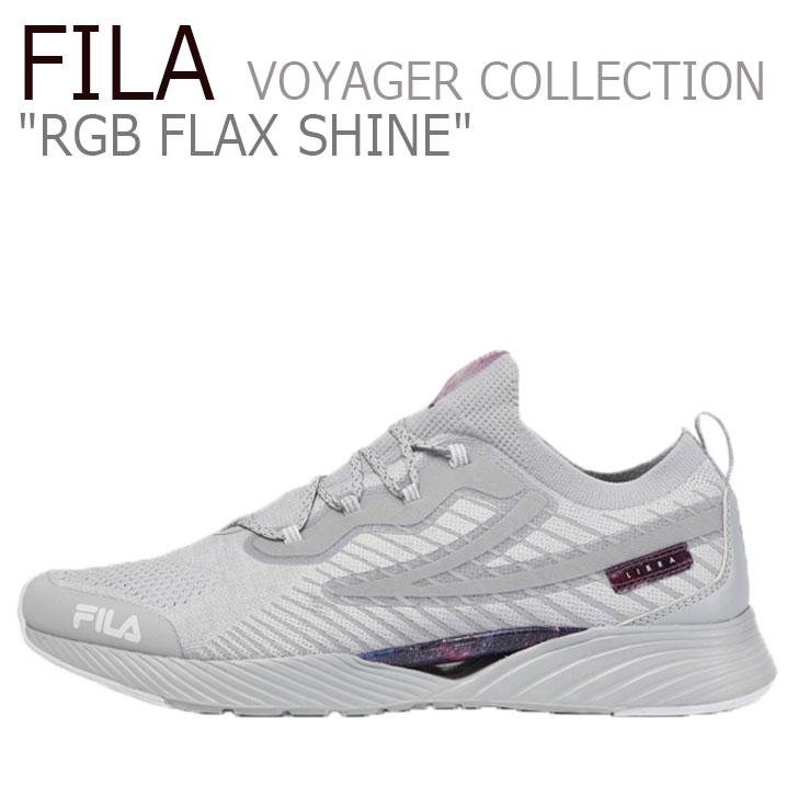 フィラ スニーカー FILA メンズ レディース RGB FLAX SHINE VOYAGER COLLECTION RGB フラックス シャイン ボイジャーコレクション GREY グレー 1RM01311-050 シューズ