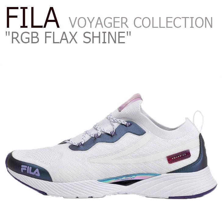 フィラ スニーカー FILA メンズ レディース RGB FLAX SHINE VOYAGER COLLECTION RGB フラックス シャイン ボイジャーコレクション WHITE ホワイト PURPLE パープル 1RM01311-522 シューズ