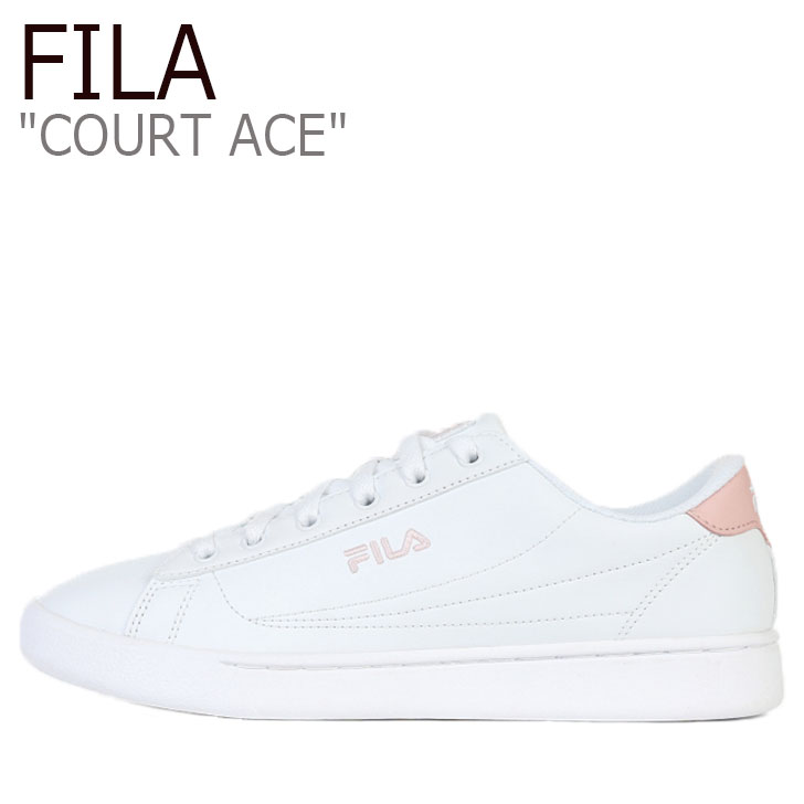 フィラ スニーカー FILA レディース COURT ACE コート エース WHITE ホワイト PINK ピンク 1TM00645-154 シューズ