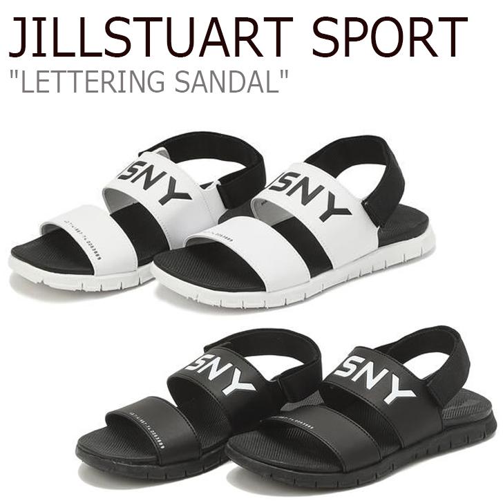 ジルスチュアート スポーツ スポーツサンダル JILLSTUART SPORT メンズ レディース LETTERING SANDAL レタリング サンダル WHITE ホワイト BLACK ブラック JESO9E454BK/WT シューズ