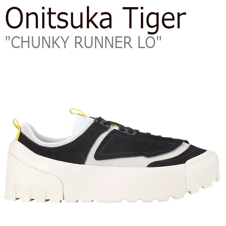 シューズ オニツカタイガー ブラック ランナー CHUNKY VIBRANT ロー Tiger チャンキー BLACK YELLOW LO レディース メンズ RUNNER Onitsuka ビブラント スニーカー 1183A421-001 イエロー