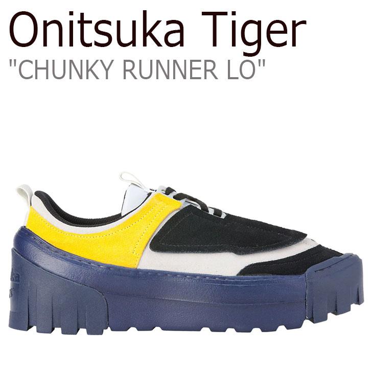 オニツカタイガー スニーカー Onitsuka Tiger メンズ レディース CHUNKY RUNNER LO チャンキー ランナー ロー BLACK ブラック GLACIER GREY グレイシャーグレー 1183A421-002 シューズ