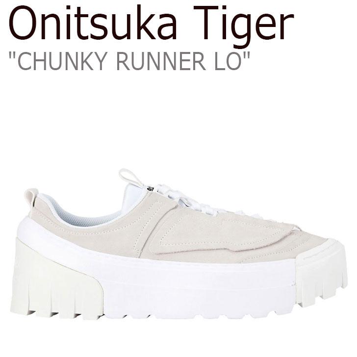 オニツカタイガー スニーカー Onitsuka Tiger メンズ レディース CHUNKY RUNNER LO チャンキー ランナー ロー WHITE ホワイト 1183A421-100 シューズ