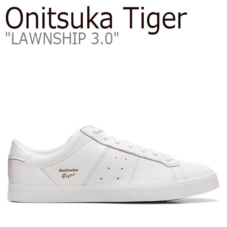 オニツカタイガー スニーカー Onitsuka Tiger メンズ レディース LAWNSHIP 3.0 ローンシップ 3.0 WHITE ホワイト 1183A568-100 シューズ
