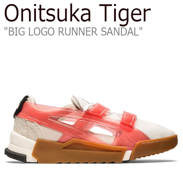 オニツカタイガー サンダル Onitsuka Tiger メンズレ ディース BIG LOGO RUNNER SANDAL ビッグ ロゴ ランナー サンダル CREAM クリーム FIERY RED ファイアリーレッド 1183A582-107 シューズ