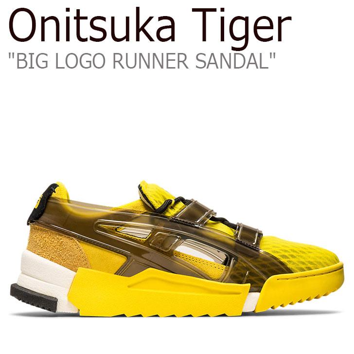 オニツカタイガー サンダル Onitsuka Tiger メンズ レディース BIG LOGO RUNNER SANDAL ビッグ ロゴ ランナー サンダル VIBRANT YELLOW ビブラント イエロー BLACK ブラック 1183A582-753 シューズ