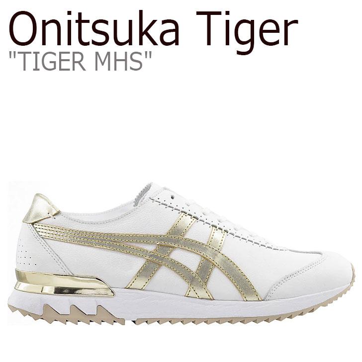 オニツカタイガー スニーカー Onitsuka Tiger メンズ レディース TIGER MHS タイガー MHS WHITE ホワイト FROSTED ALMOND フロステッドアーモンド 1183A613-101 シューズ