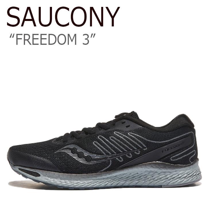 サッカニー スニーカー SAUCONY メンズ FREEDOM 3 フリーダム 3 BLACKOUT ブラックアウト S20543-35 シューズ