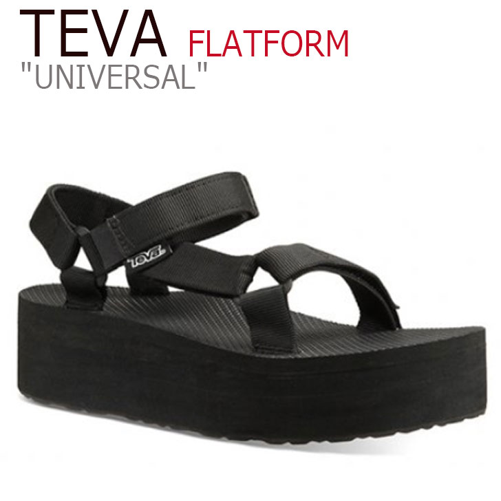テバ ユニバーサル サンダル TEVA レディース FLATFORM UNIVERSAL フラットフォーム ユニバーサル 厚底 BLACK ブラック 1008844-BLK シューズ
