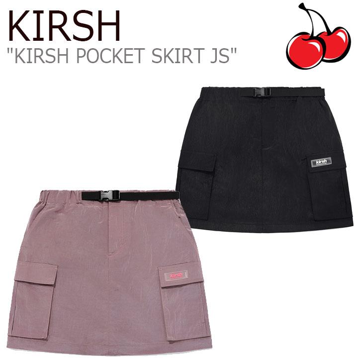 キルシー スカート KIRSH レディース KIRSH POCKET SKIRT JS キルシー ポケット スカート INDIE PINK インディーピンク BLACK ブラック JSKB05 ウェア