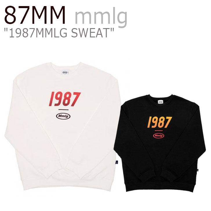 87MM mmlg トレ―ナー パルチルエムエム メンズ レディース 1987MMLG SWEAT スウェット WHITE ホワイト BLACK ブラック MMLG-19FW-T010 ウェア