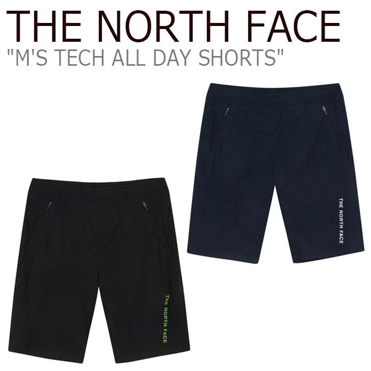 ノースフェイス ハーフパンツ THE NORTH FACE メンズ M'S TECH ALL DAY SHORTS テック オール デー ショーツ BLACK ブラック NAVY ネイビー NS6NL02J/K ウェア 【中古】未使用品