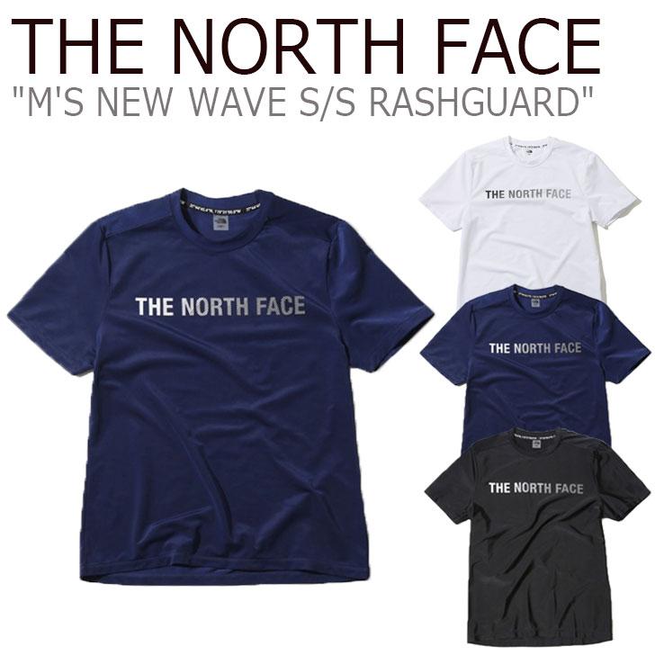 ノースフェイス 水着 THE NORTH FACE メンズ M'S NEW WAVE S/S RASHGUARD ニュー ウエーブ ショートスリーブ ラッシュガード BLACK ブラック WHITE ホワイト NAVY ネイビー NT7TK04J/K/L ウェア 【中古】未使用品