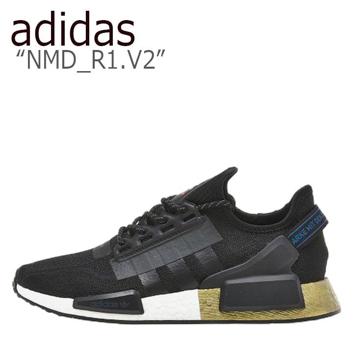 アディダス スニーカー adidas メンズ レディース NMD_R1.V2 エヌエムディー R1 V2 BLACK ブラック GOLD ゴールド FW5327 シューズ 【中古】未使用品