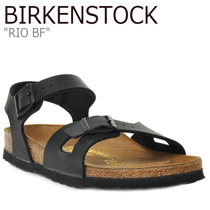 ビルケンシュトック サンダル BIRKENSTOCK レディース RIO BF リオ BLACK ブラック 031793 シューズ 【中古】未使用品