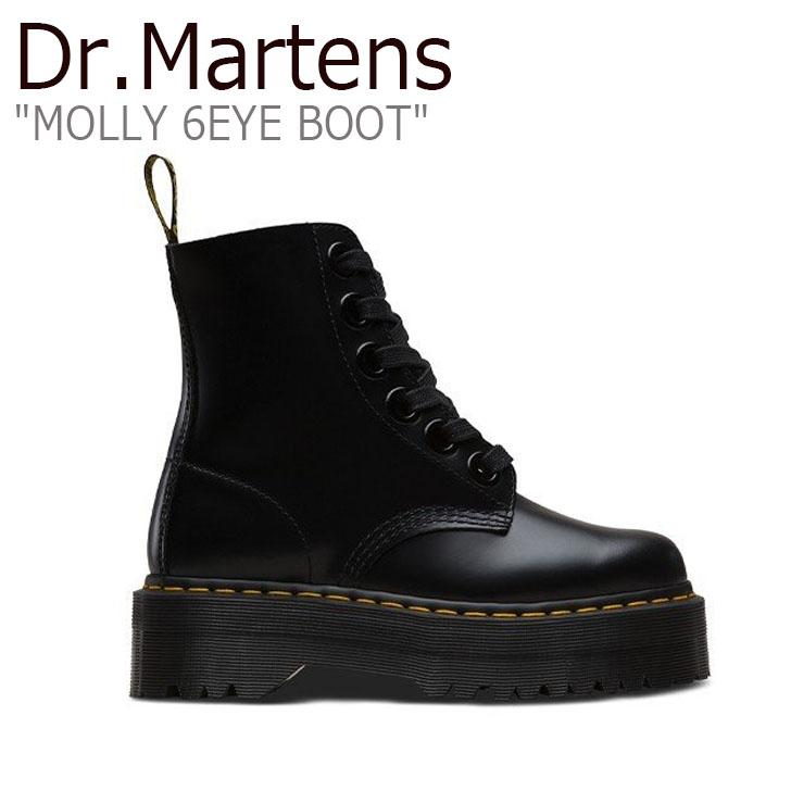 ドクターマーチン スニーカー Dr.Martens メンズ レディース MOLLY 6EYE BOOT モリー 6ホール ブーツ BLACK ブラック 24861001 シューズ【中古】未使用品