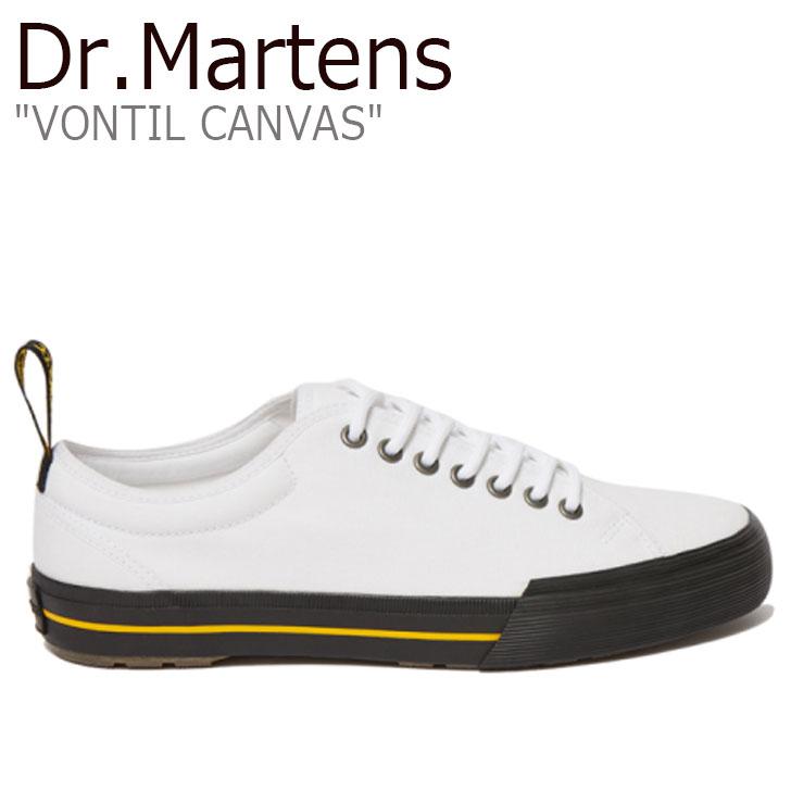 ドクターマーチン スニーカー Dr.Martens メンズ VONTIL CANVAS キャンバス WHITE ホワイト 24971100 シューズ【中古】未使用品