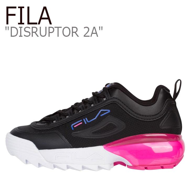 ディスラプター BLACK ブラック DISRUPTOR ピンク ディスラプター シューズ PINK レディース FILA 2A スニーカー フィラ 2A 5XM00803-020