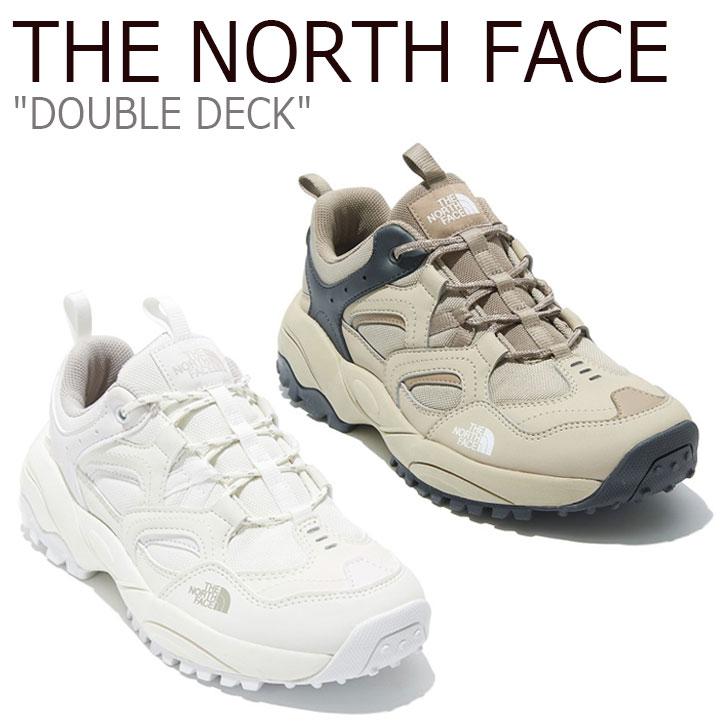ノースフェイス スニーカー THE NORTH FACE メンズ レディース DOUBLE DECK ダブル デッキ BEIGE ベージュ WHITE ホワイト NS95L06A/J シューズ 【中古】未使用品