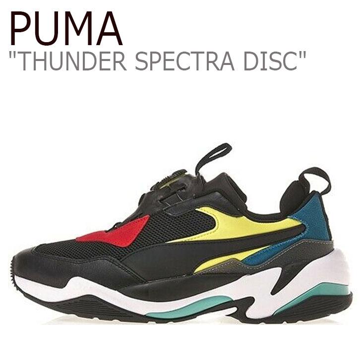 プーマ スニーカー PUMA メンズ THUNDER SPECTRA DISC サンダー スペクトラ ディスク BLACK ブラック RIBBON RED リボンレッド 37104501 シューズ 【中古】未使用品