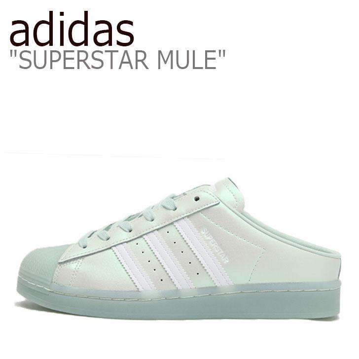 MULE adidas 【中古】未使用品 スーパースター FX2755 GREEN ホワイト メンズ グリーン ミュール レディース アディダス SUPERSTAR シューズ WHITE スニーカー