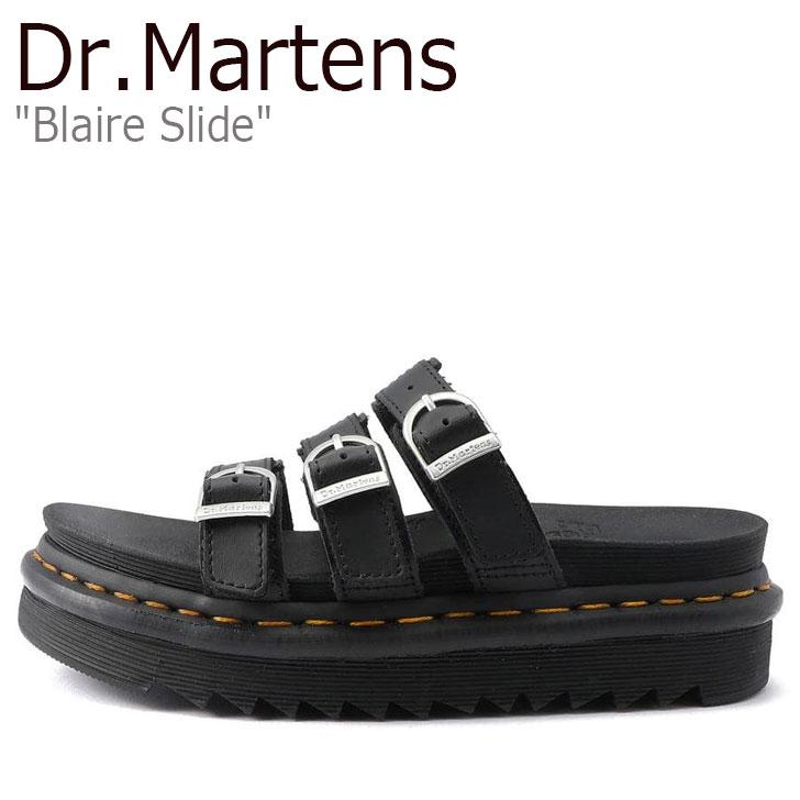 ドクターマーチン 【中古】未使用品 サンダル Dr.Martens スライド 25456001 BLAIRE ブラック ブレア SLIDE レディース シューズ BLACK