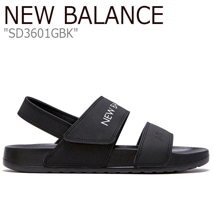 ニューバランス サンダル New Balance メンズ レディース SD 3601 GBK BLACK ブラック SD3601GBK シューズ