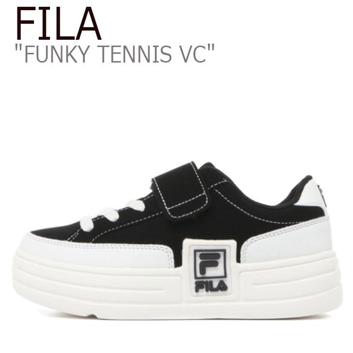 ベルクロ TENNIS スニーカー ブラック FUNKY BLACK レディース ファンキー テニス 1TM01375-021 シューズ FILA VC フィラ