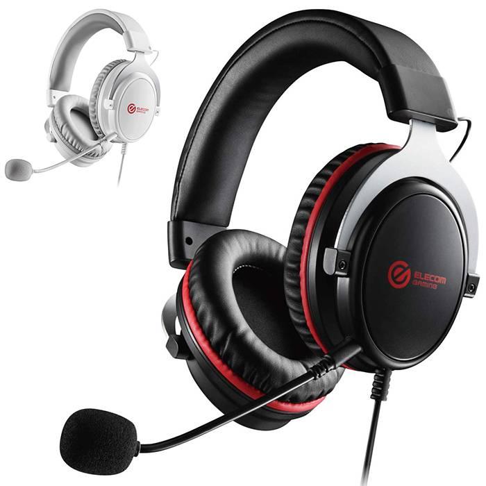 FPS ゲーミングヘッドセット 両耳 オーバーヘッド ハイレスポンスドライバー 密閉型 ヘッドホン マイク エレコム HS-G40