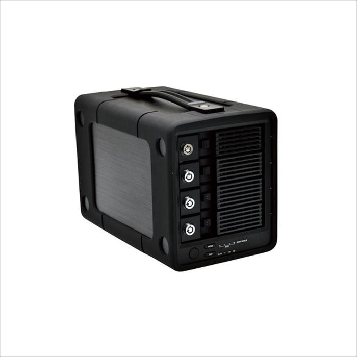 【沖縄・離島配送不可】4Bay RAID機能搭載 HDD 外付けハードディスク 12TB 高速 データ保護 ハンドル 耐衝撃バンパー エレコム ELD-4B120UBK