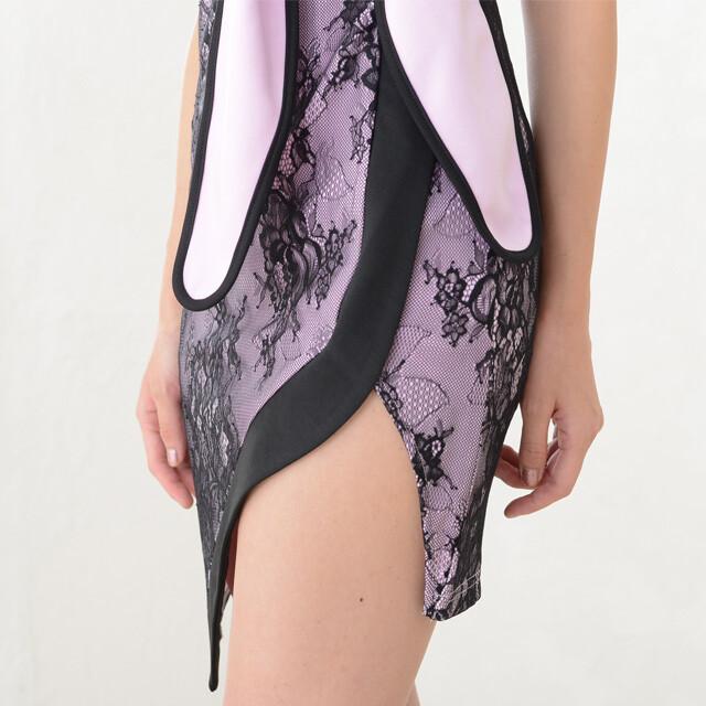 ミニドレスセットアップミニドレス上下セット送料無料ナイトドレスキャバドレスコスチュームイベント衣装イベントドレスウエストリボンパイピングミニドレス