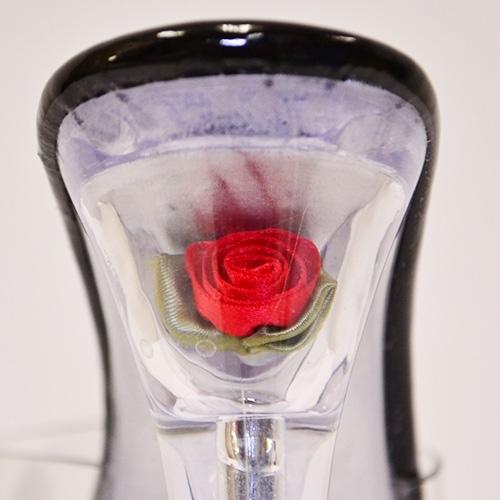 キャバ ヒール サンダル キャバドレス 厚底 結婚式 パーティードレス  クリア薔薇入りストームパーティーサンダル